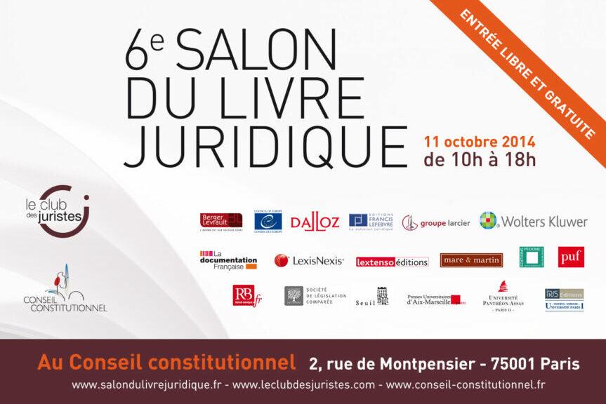 Salon Du Livre Juridique Le 11 Octobre 2014