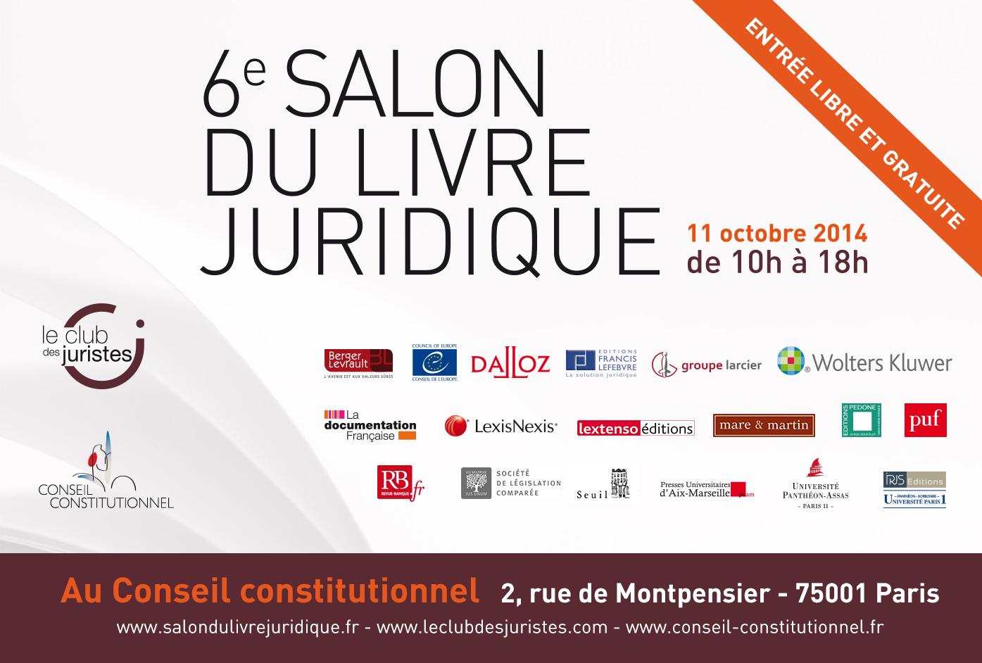 6 me salon du livre juridique le club des juristes - Salon du livre troyes ...
