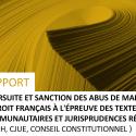 Rapport «Poursuite Et Sanction Des Abus De Marché»