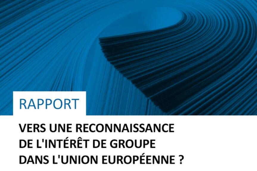 « Vers Une Reconnaissance De L'intérêt De Groupe Dans L'Union Européenne ? »