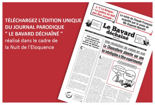 Le Bavard Déchaîné, Journal Parodique De La Nuit De L'éloquence