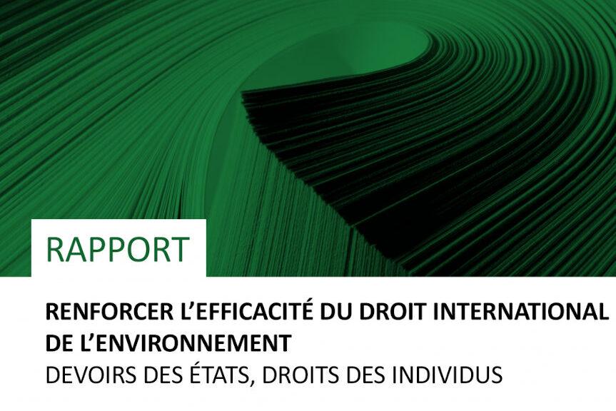 Rapport : Renforcer L'efficacité Du Droit International De L'environnement