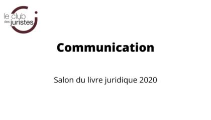 Annulation Salon Livre Juridique 2020